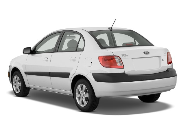Image 2009 Kia Rio 4 Door Sedan Auto Lx Angular Rear