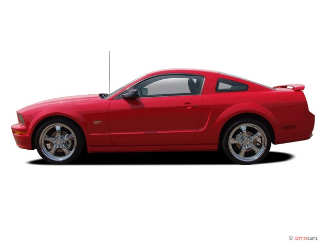 Image: 2005 Ford Mustang 2-door Coupe GT Premium Side Exterior View ...