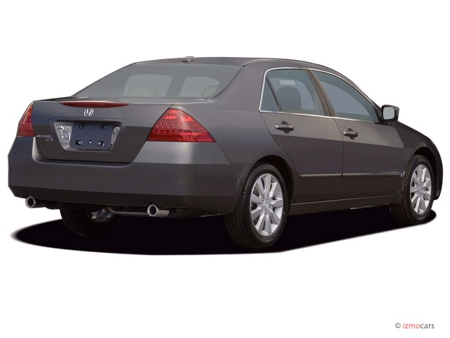 Image 2007 Honda Accord Sedan 4 Door V6 At Exl W Navi Angular Rear Exterior View Size 640 X