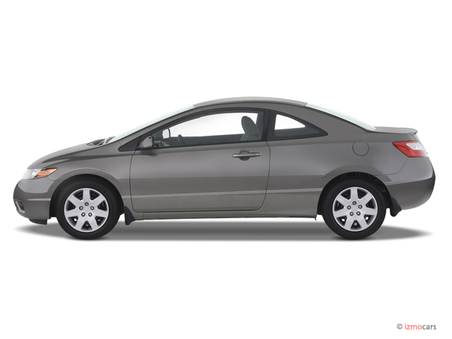 2007 honda civic coupe 2 door at lx side exterior view. Black Bedroom Furniture Sets. Home Design Ideas