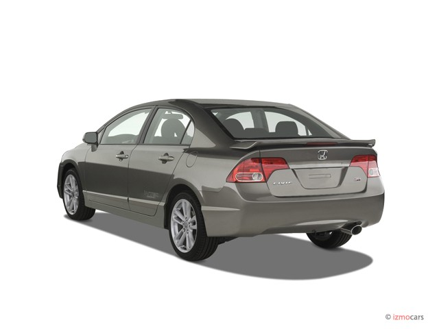 2007 honda civic si 4 door sedan manual w st angular rear exterior view. Black Bedroom Furniture Sets. Home Design Ideas