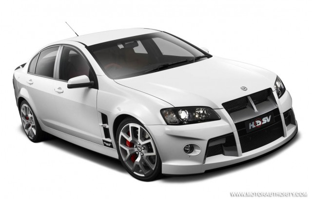 Hsv W427 Ls7 Powered Commodore Sedan Goes Into Production