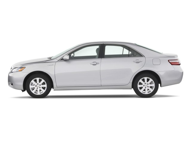 2008 toyota camry hybrid 4 door sedan natl side exterior view. Black Bedroom Furniture Sets. Home Design Ideas