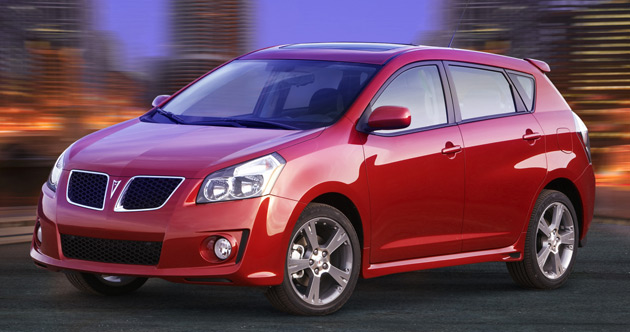 The soon-to-be discontinued Pontiac Vibe was the last GM vehicle manufactured at the NUMMI plant