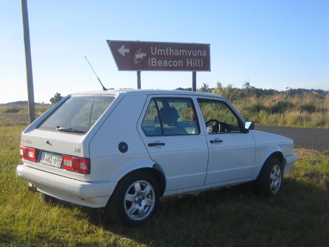 2009 Volkswagen CitiGolf at Umthamvuna Nature Preserve, KwaZulu-Natal, South Africa