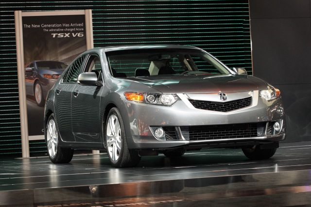 2010 Acura TSX V6 on stage at the 2009 Chicago auto show #7880301