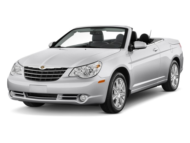 Angular Front Exterior View - 2010 Chrysler Sebring 2-door Convertible Limited