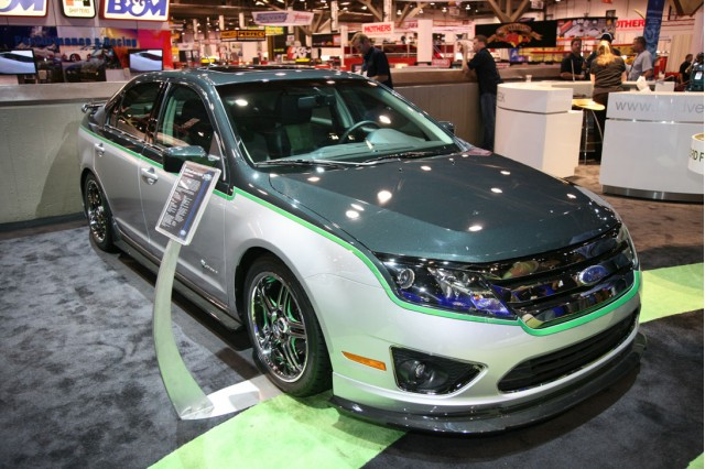 Green Can Be Cool Customized 2010 Ford Fusion Hybrid Show Car