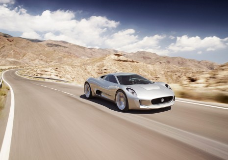 2010 Jaguar C-X75 Concept, released at 2010 Paris Motor Show