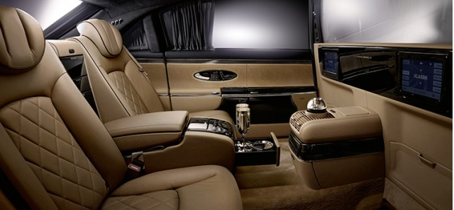 The seats feature unique 'California beige' leather trim with piano black highlights