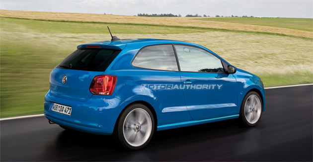 VW's new Polo features a more chiseled look as seen on the Mark VI Golf