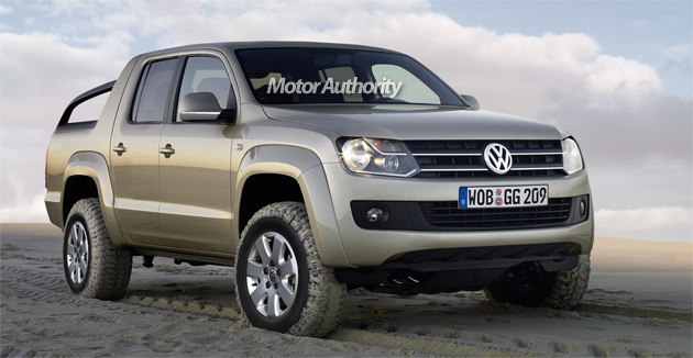 early look at vw s upcoming robust pickup. Black Bedroom Furniture Sets. Home Design Ideas