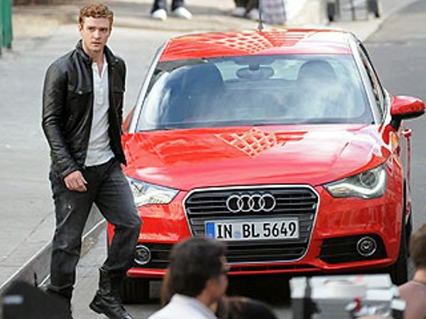 2011 Audi A1 and Justin Timberlake on LA photo shoot