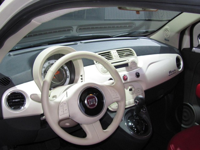 2011 Fiat 500 launch event at the 2010 Los Angeles Auto Show, November 2010