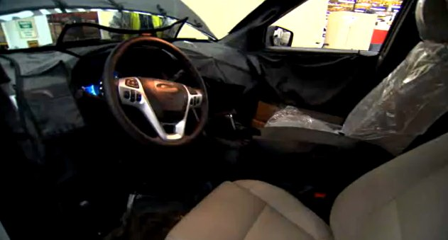 2011 Ford Explorer interior glimpsed in camouflage video