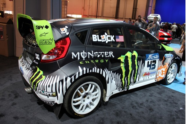 2010 SEMA: Ken Block's Gymkhana THREE ford Fiesta live photos #9261070