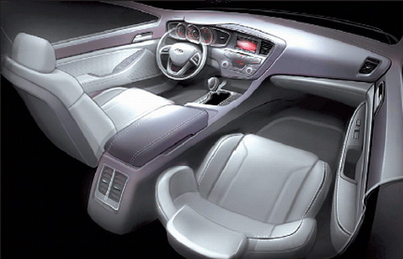 2011 Kia Optima interior preview sketch #9862106