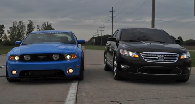 Video: Livernois Tuned 2010 Taurus SHO vs. 2011 Mustang GT