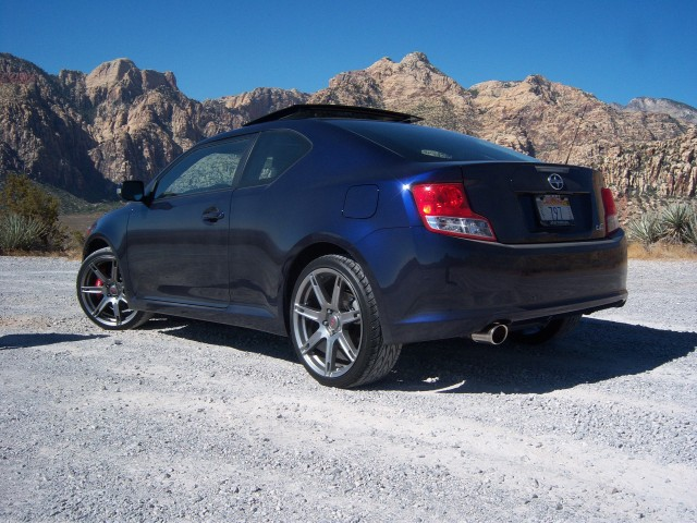driven report 2011 scion tc takes on sin city. Black Bedroom Furniture Sets. Home Design Ideas
