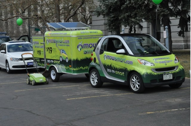 Mow Smart's Smart ForTwo Passion at Denver Green Car Parade #8193460