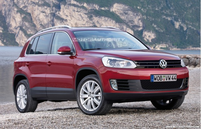 rendered 2011 volkswagen tiguan facelift gallery 1 motorauthority. Black Bedroom Furniture Sets. Home Design Ideas