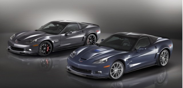 2012 Chevrolet Corvette Z06 (left) and Corvette ZR1
