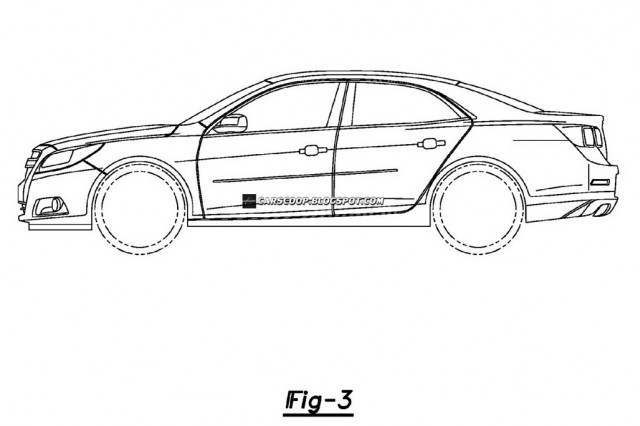 2013 Chevrolet Malibu official patent filing #8966718