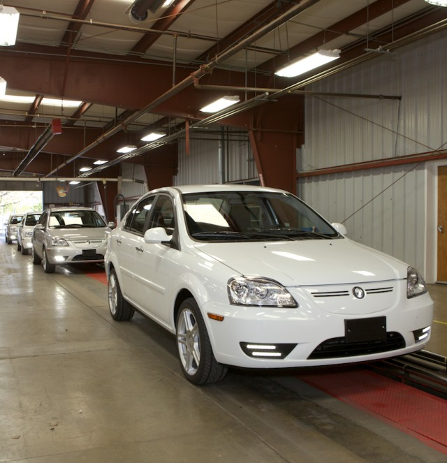 2012 Coda Sedans on assembly line, Benicia, California, March 2012