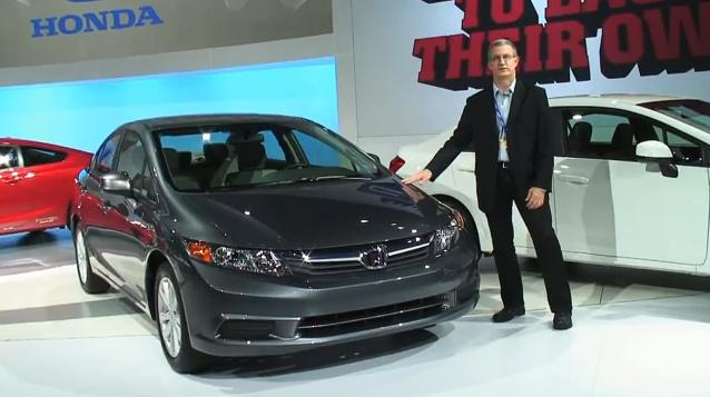 2012 Honda Civic sedan at New York Auto Show, April 2011 #7863022