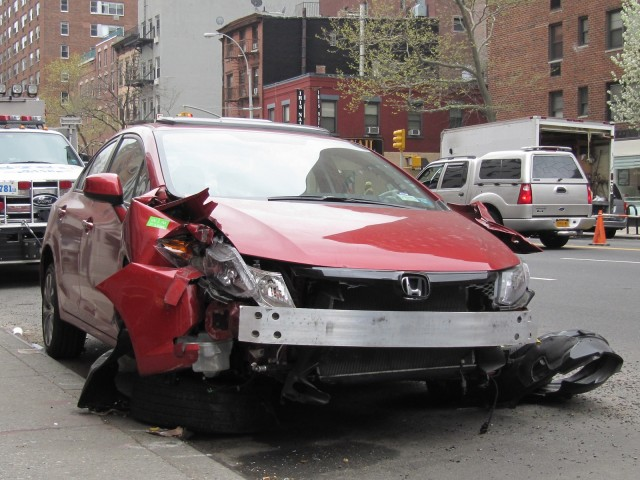 How Did This 2012 Honda Civic Si Get So Strangely Mangled Gallery 1 Motorauthority