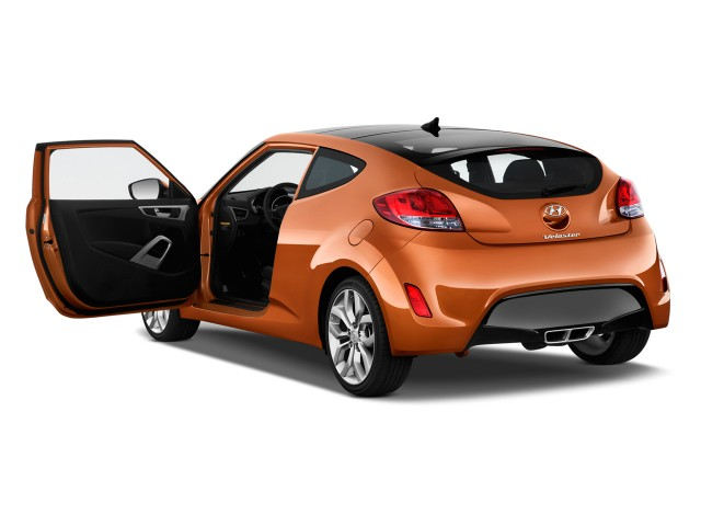 2012 Hyundai Veloster 3dr Coupe Man w/Black Int Open Doors #8162399