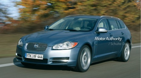 2012 Jaguar XF Estate preview rendering