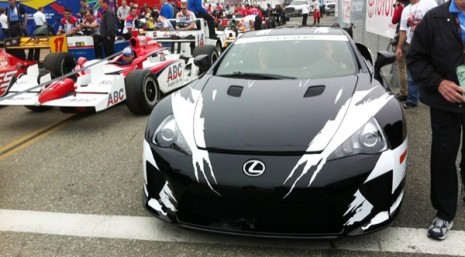 2012 lexus lfa serves as official pace car at toyota grand prix of long beach. Black Bedroom Furniture Sets. Home Design Ideas