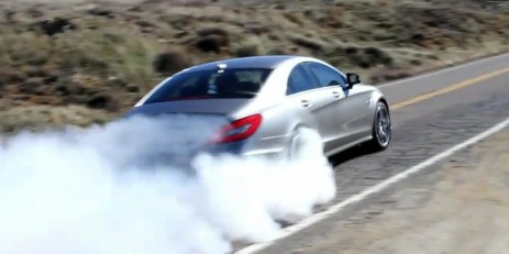 2012 Mercedes-Benz CLS AMG burnout