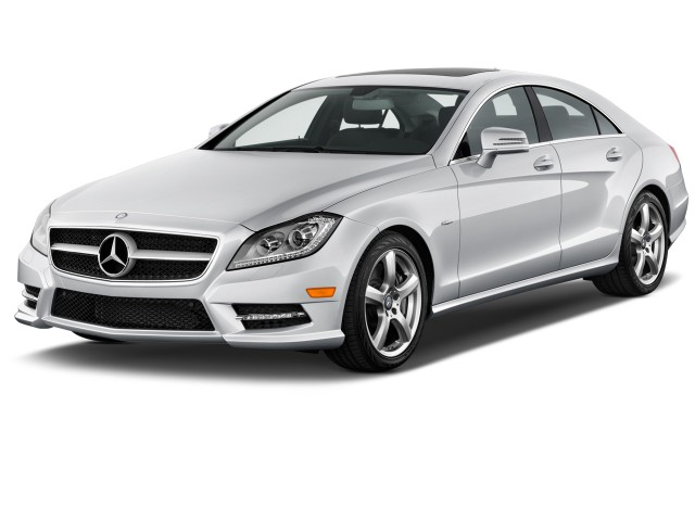 Angular Front Exterior View - 2012 Mercedes-Benz CLS Class 4-door Sedan 4.6L RWD
