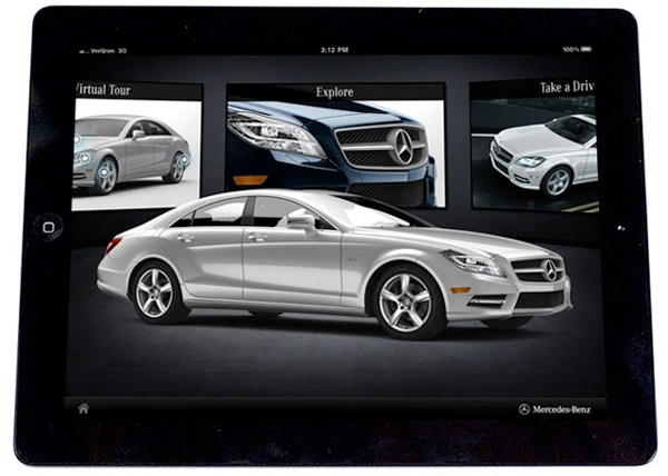 2012 mercedes benz cls accessorizes with apple ipad app for Mercedes benz apps