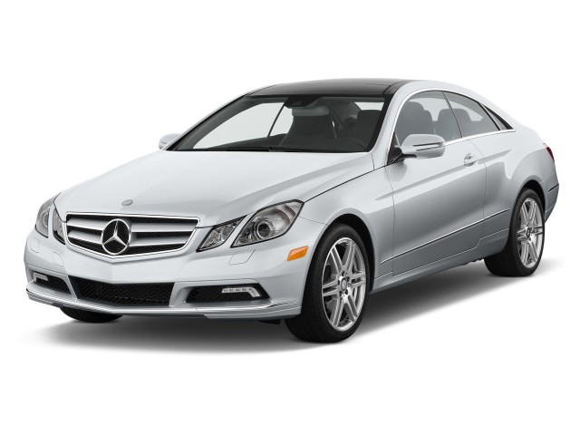 Angular Front Exterior View - 2012 Mercedes-Benz E Class 2-door Coupe 3.5L RWD