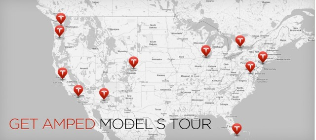 2012 Tesla Model S Get Amped Tour