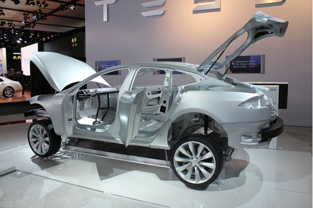 news tesla model aluminum body repair costs higher