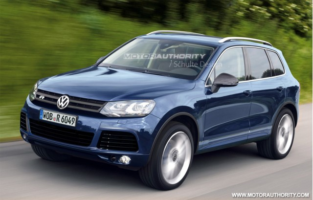 rendered 2012 volkswagen touareg r hybrid. Black Bedroom Furniture Sets. Home Design Ideas