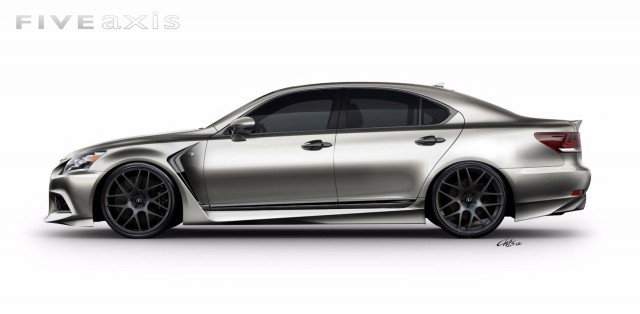 2013 lexus ls 460 f sport by five axis heads to sema show gallery 1 motorauthority. Black Bedroom Furniture Sets. Home Design Ideas