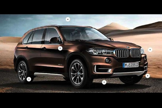 2014 bmw x5 leaked in a scale model brochure