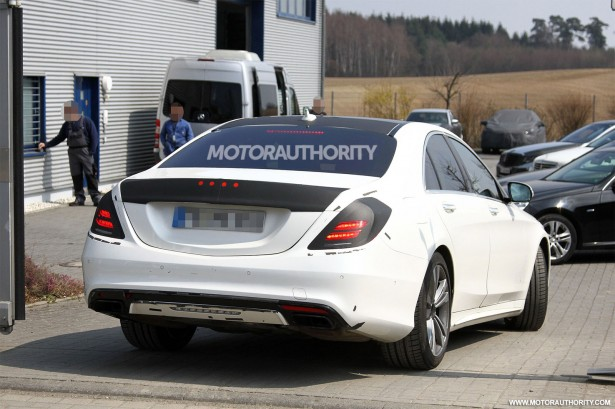 2014 mercedes benz s class spy shots for How much is a 2014 mercedes benz s550