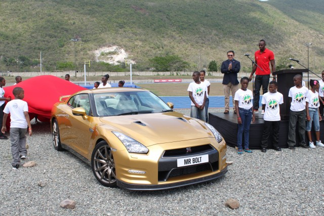 Gold Nissan GT-R for Usain Bolt #7049194
