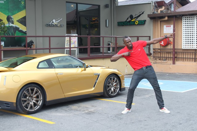 Gold Nissan GT-R for Usain Bolt #7705908