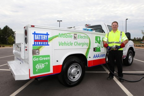 AAA's Mobile Electric Vehicle Charging truck. Image: AAA
