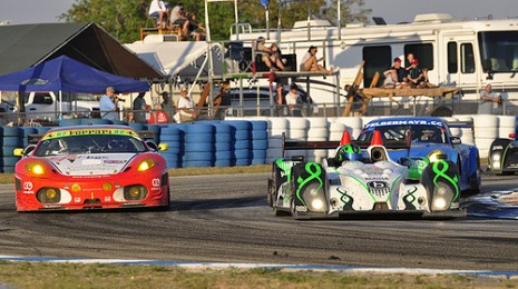 ALMS action from Sebring. Photo: Anne Proffit