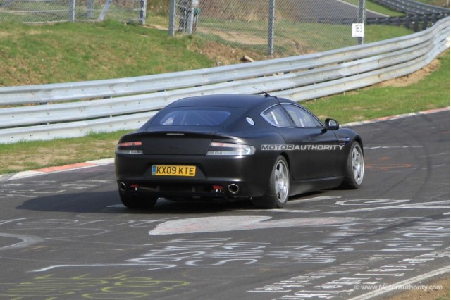 Aston Martin Rapide race car spy shots #9352558