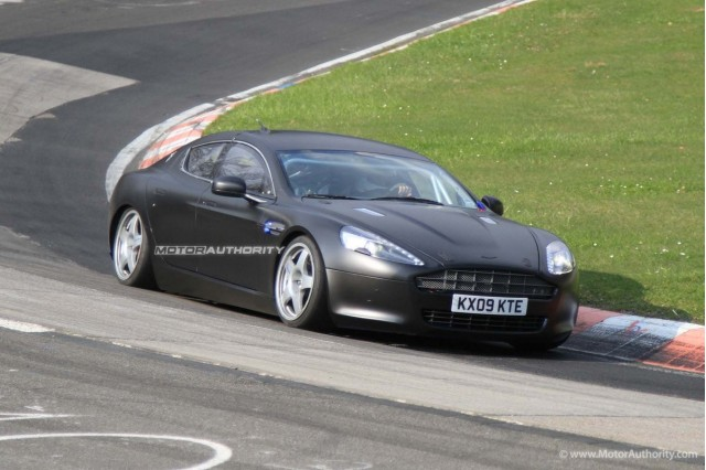 Aston Martin Rapide race car spy shots #8021635