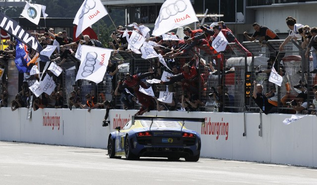 Audi Sport Team Phoenix and its winning R8 LMS ultra at the 2012 Nürburgring 24 Hours